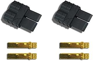 Traxxas Male Connectors Plugs, Black, TRA3070