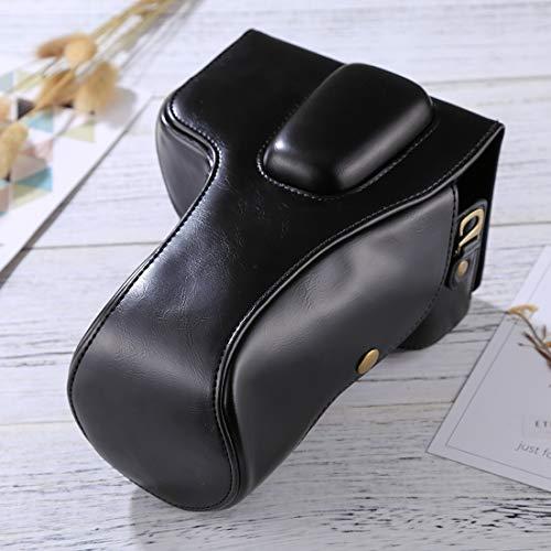 Bolso de cuero de la cámara Bolso de cuero de la PU de la cámara del cuerpo completo for Nikon D5300 / D5200 / D5100 (lente de 18-55 mm / 18-105 mm / 18-140 mm) Cubierta de cámara ( Color : Black )