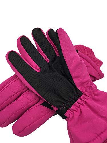 Guante Los niños engrosan mitones cálidos guantes de esquí invierno hermosa nieve...