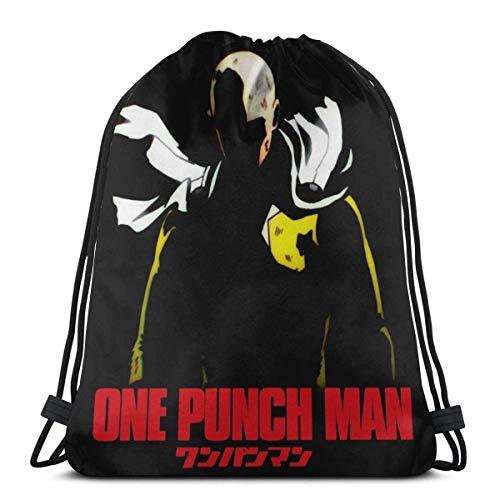One Punch Man Saitama Drstring Bag Sport Gym Bapa Storage Goodie Cinch Bags