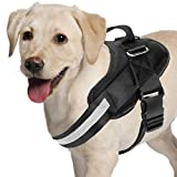 Adjustable Dog Harness, No Pull Dog Harness Outdoor Vest with Easy Control Handle, Hook and Front...