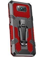 Grandcaser Capa para Poco X3 NFC ultrafina PC + TPU Capa traseira à prova de choque Capa protetora antiqueda para Xiaomi Poco X3 NFC 6,7 polegadas – Vermelho