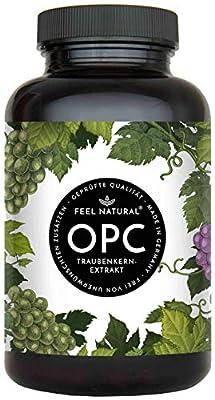 OPC Traubenkernextrakt - 240 Kapseln - Höchster OPC Gehalt nach HPLC - Laborprüftes OPC aus französischen Weintrauben - 1000mg Extrakt mit 700mg OPC - Vegan, in Deutschland produziert