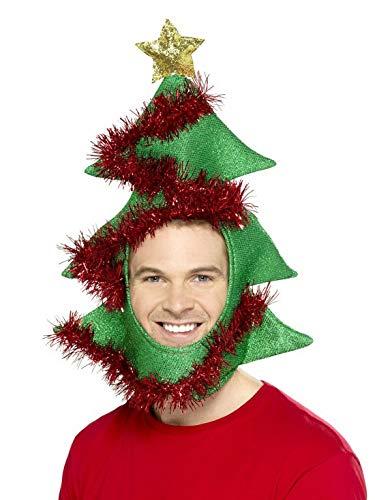 costumebakery - Kostüm Accessoires Zubehör Herren Damen Tannenbaum Christbaum Weihnachtsbaum Hut Mütze,, Christmas Tree Hat, perfekt für Weihnachten Karneval und Fasching, Grün