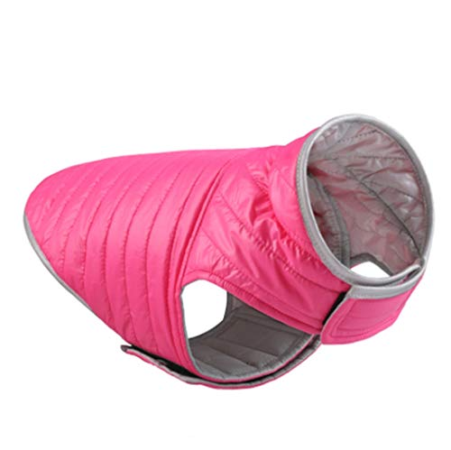 Winter Dog Jacket with Hook and Loop Warm Pet Dog Clothes Puppy French Bulldog Hoodies Vest Waterproof for Small Large Dogs