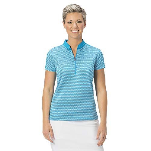 Nancy Lopez Golf Polo a maniche corte Flex - Blu - X-Large