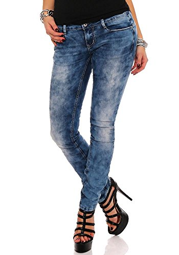 M.O.D Alice Slim dames jeans buis jeans buis skinny slim straight Bahamas blauw