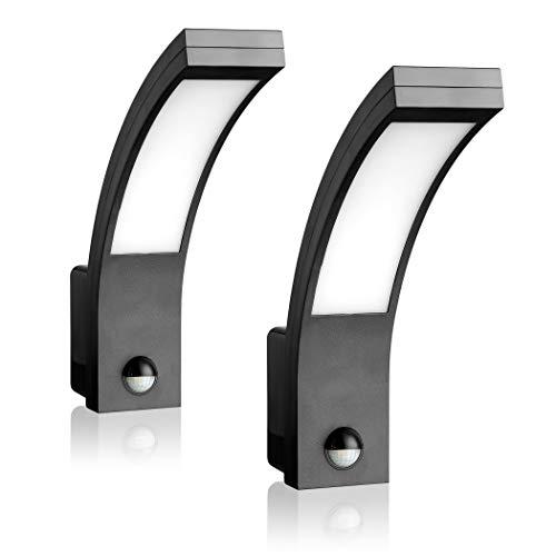 SEBSON 2x LED Lámpara de Exterior con Sensor Movimiento, Aplique de Pared,...