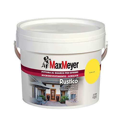 MaxMeyer Pittura per esterni Quarzo Rustico GIALLO 2,5 L