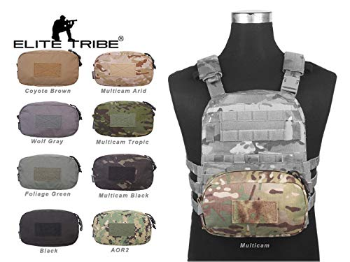 Elite Tribe Ultility Pouch Molle 2313cm Military Bag Combat Gear Army Bag (AOR1)