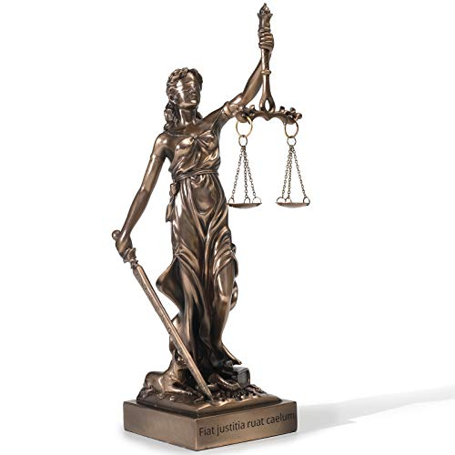 Magicsculp-The Lady Justice Statue - Greek Roman Goddess of Justice 12.9inch Museum Grade Collectible Figurine