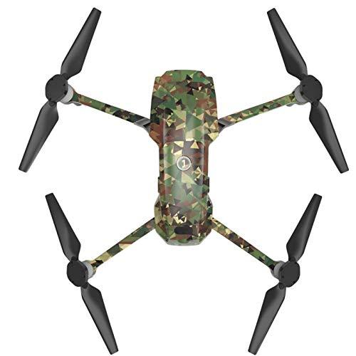 SALUTUYA PVC Trois Autocollants pour Batteries Autocollants De Drone Anti-Soleil, pour DJI Mavic 2 Pro/Zoom(MC03)