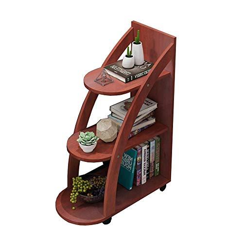 Home&Selected bijzettafel/salontafel met opbergruimte, 3 op wielen bibliotheek dieren, 60 x 30 x 81,5 cm (kleur: C) C