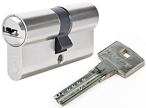 ABUS Bravus.2000 Doppelzylinder mit Not- und Gefahrenfunktion 40/40 inkl. 5 Schlüssel - Wendeschlüssel-Sicherheitszylinder - Sicherungskarte - Patentschutz bis 2030