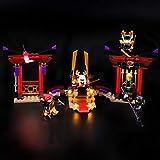 BRIKSMAX Kit de Iluminación Led para Lego Ninjago Duelo en la Sala del Trono,Compatible con Ladrillos de Construcción Lego Modelo 70651, Juego de Legos no Incluido