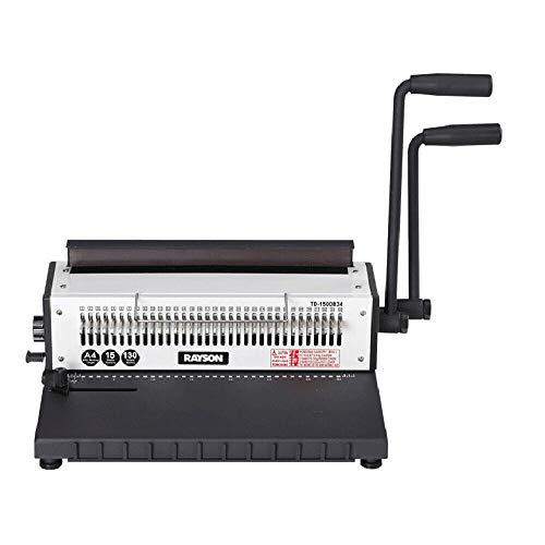 WUPYI2018 - Rilegatrice a spirale (34 fori, fino a 130 fogli, DIN A4), adatta per documenti di ufficio, montaggio con calendario, fai da te