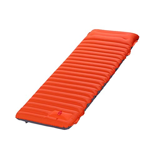 DIAOD Ultralight Self-inflating Air Mattress Widen Sleeping Pad Splicing Inflatable Bed Beach Picnic Mat Camping Tent Air Cushion (Color : Orange with gray)