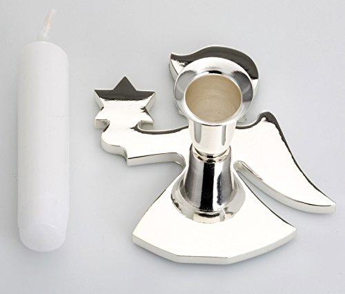 Candlestick Ange Argent Mensonge et Le ternissement INCL. Candle