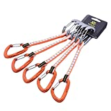 KAILAS quickdraws Climbing Rescue Quickdraw Set 12CM 18CM Vim Wire Straight Gate and Bent Gate Keylock Carabiner