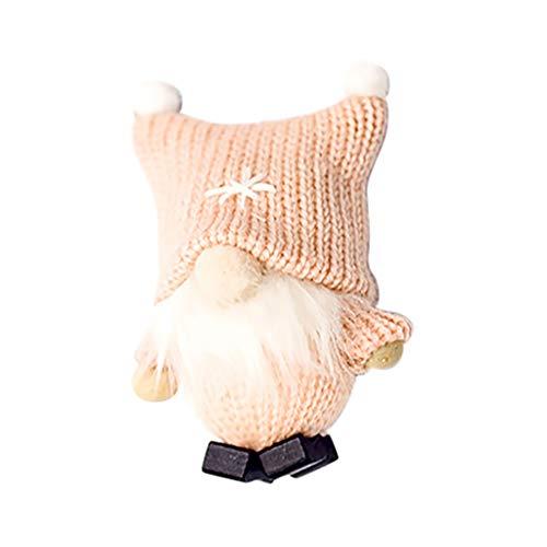 Sayla Handgemachte Wichtel Santa Dolls süße Weihnachten Tomte Nisse Figur aus Weihnachtsfigur Dwarf schöneren Weihnachts Deko für Home Schaufenster Kinder Geburtstag Weihnachten 10x4CM (Rosa)