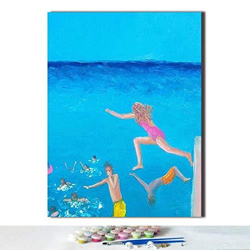 Puzzle 1000 Piezas Arte Hombre Azul Buceo Paloma de mar Creativo Paisaje Marino Playa Puzzle 1000 Piezas educa Educativo Divertido Juego Familiar para niños adultos50x75cm(20x30inch)
