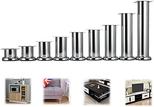 Chilequano Patas de Muebles, Sofá de Metal Les, Pies de Tubo de straiht Grueso, Pies de gabinete hacia Arriba, Pies Durables de Camas (tamaño : 20CM)