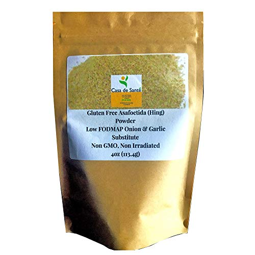 Gluten Free Asafoetida/Asafetida/Hing powder - Low FODMAP Onion and Garlic Substitute, Tested Negative for 30 Allergens, No Fenugreek, Non GMO, 4oz (113g) - Casa de Sante