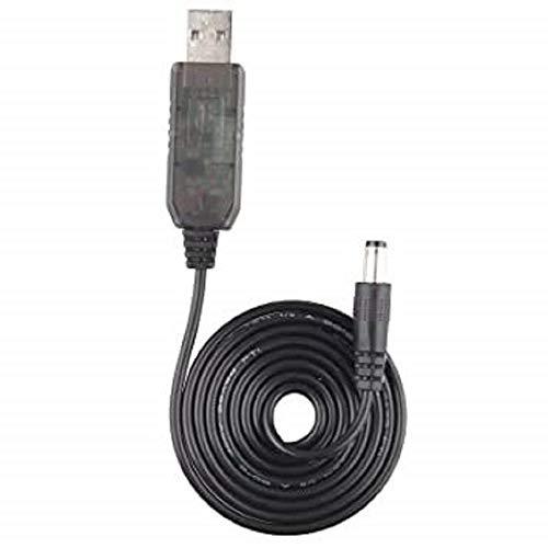 Dragon Trading - Cable de alimentación extra largo de 3 metros compatible con Amazon Echo Dot (3ª generación), Echo Dot con reloj, Echo Show 5, Echo Spot, Fire TV Cube