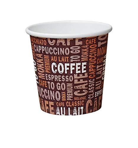 Gastro-Bedarf-Gutheil 1000 Premium Kaffeebecher Pappe 100ml / 8oz Pappbecher Einwegbecher EINWEG Coffee to go 0,1 L Top Becher