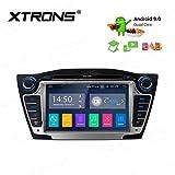 XTRONS 7' Android Autoradio mit Touchscreen Android 9.0 Quad Core DVD Player Full RCA Ausgang WiFi 4G Bluetooth 2GB RAM 16GB ROM DAB OBD2 Lenkradsteuerung TPMS FÜR Hyundai IX35/Tucson...
