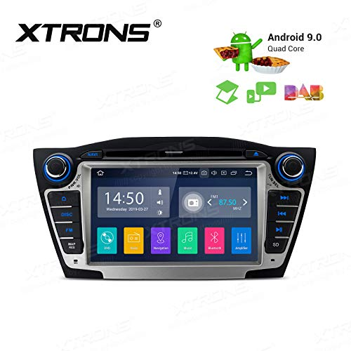 mächtig XTRONS 7 ″ Android-Autoradio, Android 9.0-Touchscreen-Quad-Core-DVD-Player Volle Cinch-Ausgabe…