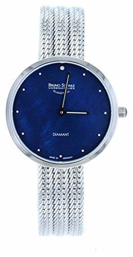 Bruno Söhnle Damen Analog Quarz Uhr mit Edelstahl Armband 17-13171-350