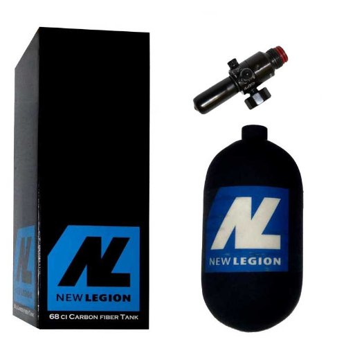 New Legion Paintball Dwarf Composite inkl. Ninja Preset Regulator, 1.1 Liter, 61506