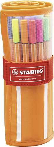 Fineliner - STABILO point 88 - Rollerset con 30 Colori assortiti