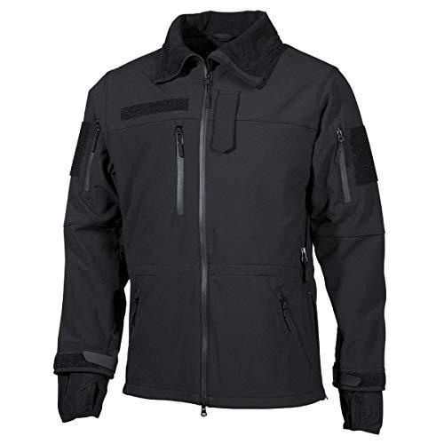 MFH Haute défense Men's Veste en Tissu Softshell - Noir - Noir, XXX-Large
