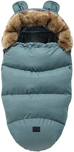 Cochecito cubierta del pie bolsa cómoda del pie de los pies universal de la cubierta de dormir, cálido saco de dormir del bebé del invierno impermeable, apto for todas las sillas JCY ( Color : Blue )