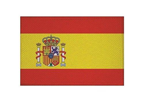 U24 Aufnäher Spanien Fahne Flagge Aufbügler Patch 9 x 6 cm