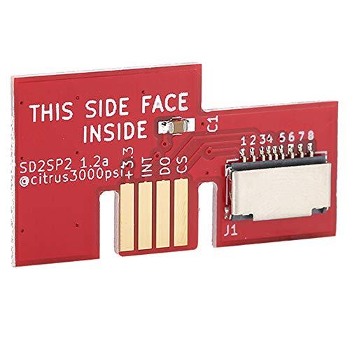 Placa Base del Lector de Tarjetas de Memoria Micro, Adaptador de Tarjeta de Memoria de Puerto Serie, Placa de Control de Circuito de Repuesto para Consola Gamecube(Rojo)