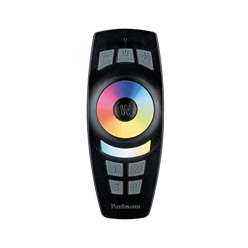 Paulmann 500.67 Smarthome Zigbee Gent Fernbedienung 2xAAA mit Wandhalterung Schwarz 50068 - Amazon Echo Plus kompatibel