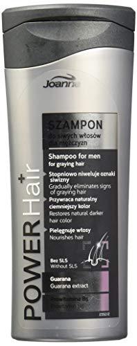 Joanna Power Cheveux Homme Shampooing Cheveux Gris Progressivement elimination des cheveux gris chiné 200 ml