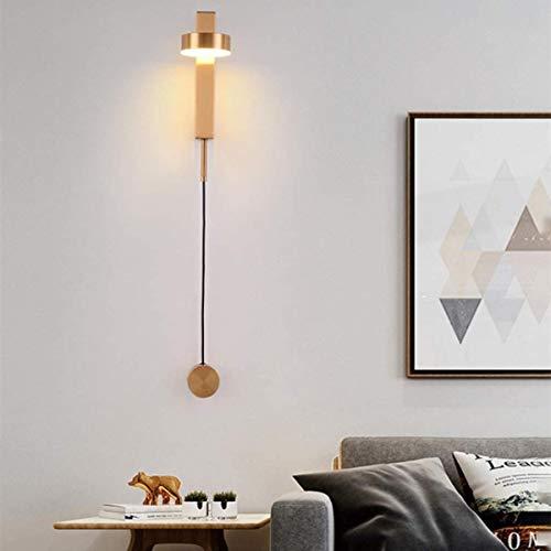 LED moderna moderna 360 ° pared lámpara de pared cálida luz para niños lámpara de cama lámpara de pared para pasillo, sala de estar, dormitorio, escaleras, comedor, loft, iluminación interior, oro
