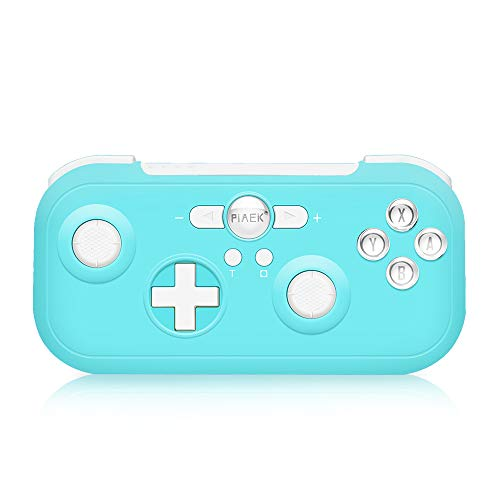 Wireless Controller für Nintendo Switch 6-Achsen Wireless Switch Controller Doppelter Schock Key Burst Bluetooth Switch Pro Controller mit Turbo Funktion und Screenshot (Blau)