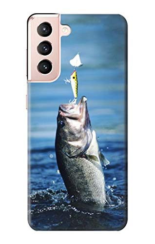R1594 Bass Fishing Case Cover for Samsung Galaxy S21 5G