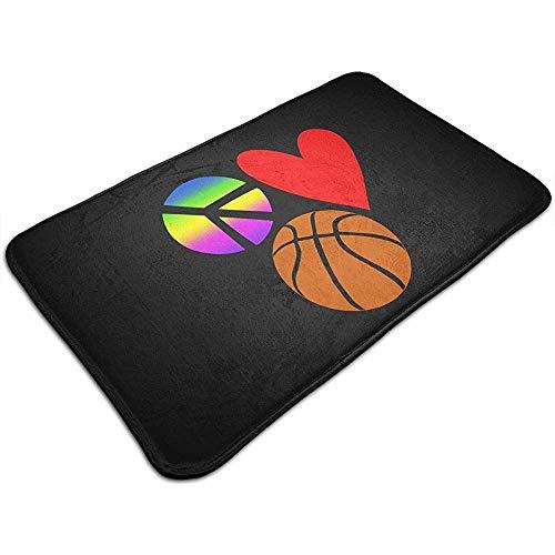 Liumt vriendschapsspel basketbal. Voetmat decoratief antislip badmat 40 cm * 60 cm