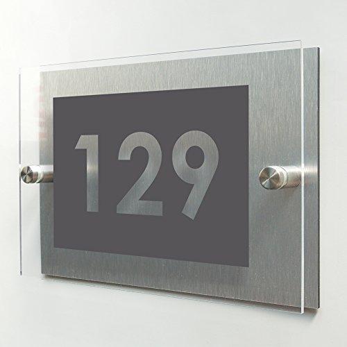 Plaque de maison moderne - Numéro de porte évidé -...