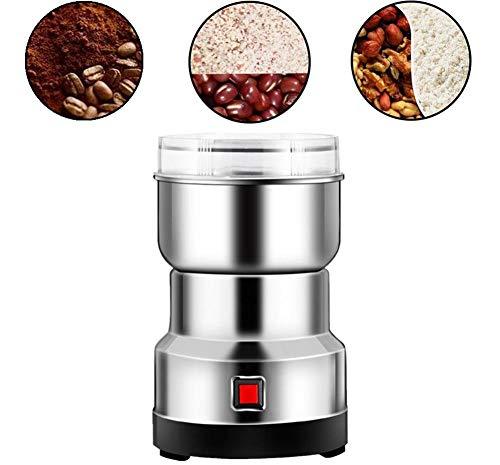 Elektrische Kaffee- Und Gewürzmühlen Elektrisch - Ultrafeine Multifunktions-Haushalts-Edelstahl-Mahlmaschine - 10 Sekunden Schnelle Zerkleinerung - 550-W-Lebensmittelmühle Für Bohnen-Nuss-Kräuterkorn