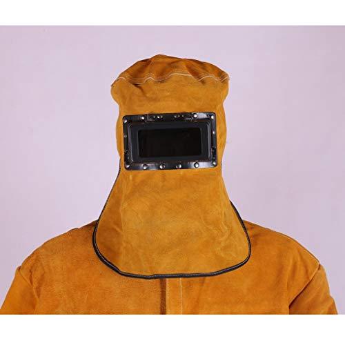 Stofkap Koe lederen lashoed/gelast gezicht schild/brandwerende lasser masker