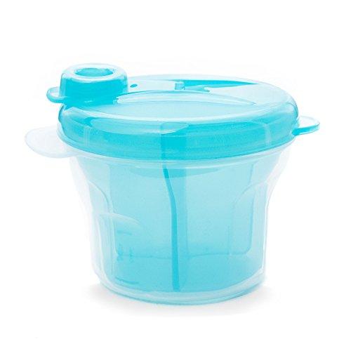 Milchpulver Portionierer Behälter - Baby Milchpulverspender - 100% BPA-frei (Blau)