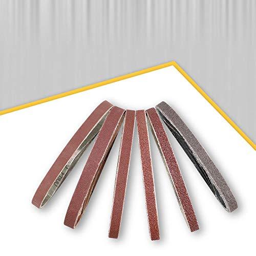 QINGRAN Grinding Wheels 10 pcs/Set 330 * 10mm Sanding Belts 40-800 Grits Sandpaper Abrasive Bands, for Belt Sander Abrasive Tool Wood Soft Metal Polishing,10pcs P320