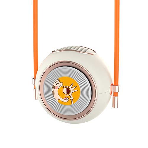 Mini ventilador USB de carga de viaje colgante de cuello, refrigerador de aire portátil de verano, regalo para mamá maestra